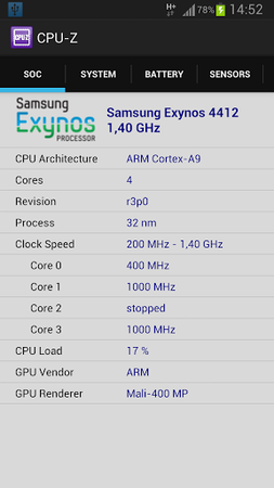 CPU-Z for Android 1.23
