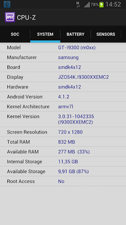 CPU-Z for Android 1.21