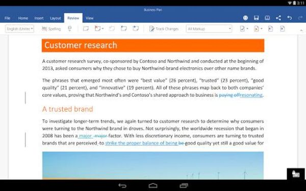 Microsoft Word for Android 16.0.8730.2050